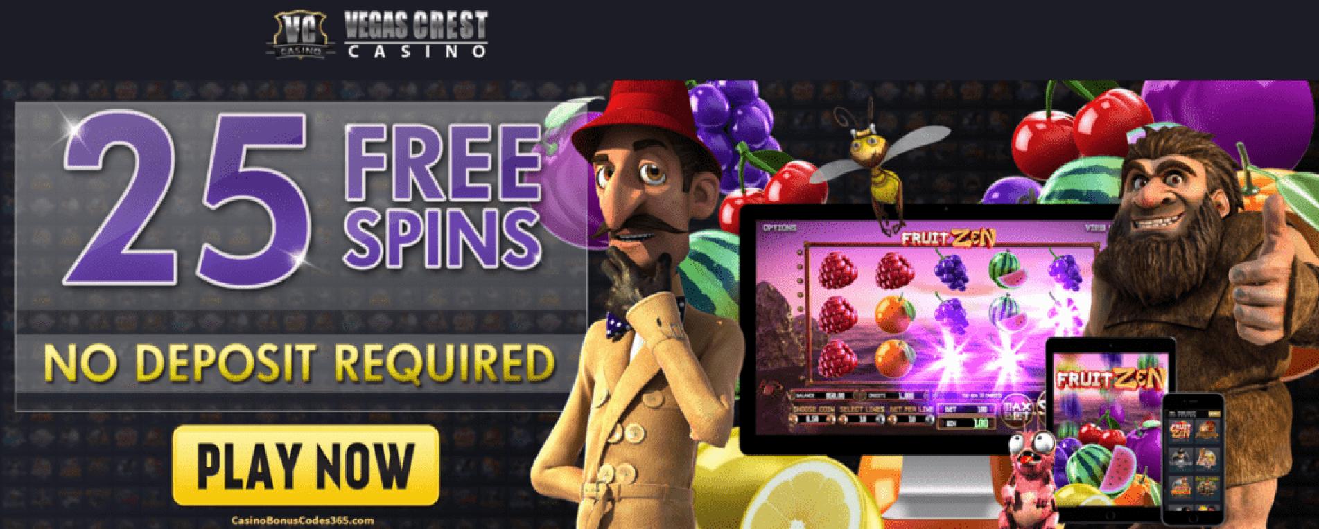 Vegast Crest Casino Betsoft 25 FREE Spins Fruit Zen