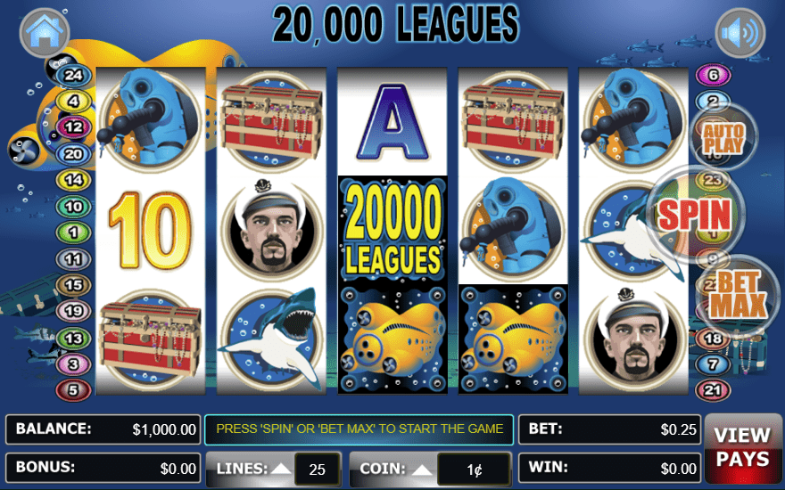 Liberty Slots WGS 20000 Leagues 100 FREE Spins