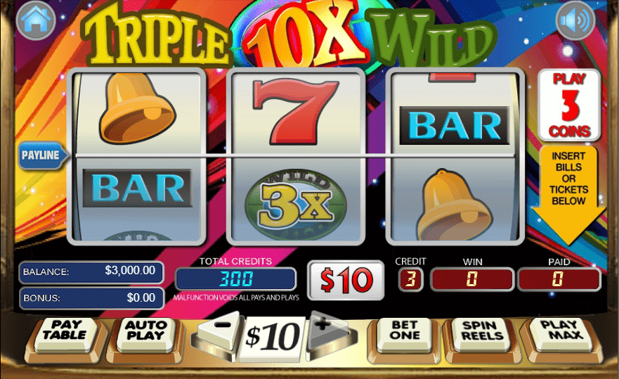 Liberty Slots WGS Triple 10x Wild 50 FREE Spins