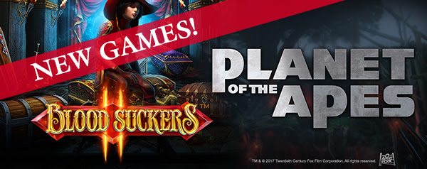 MyWin24 NetEnt New Games Blood Suckers II Planet of the Apes