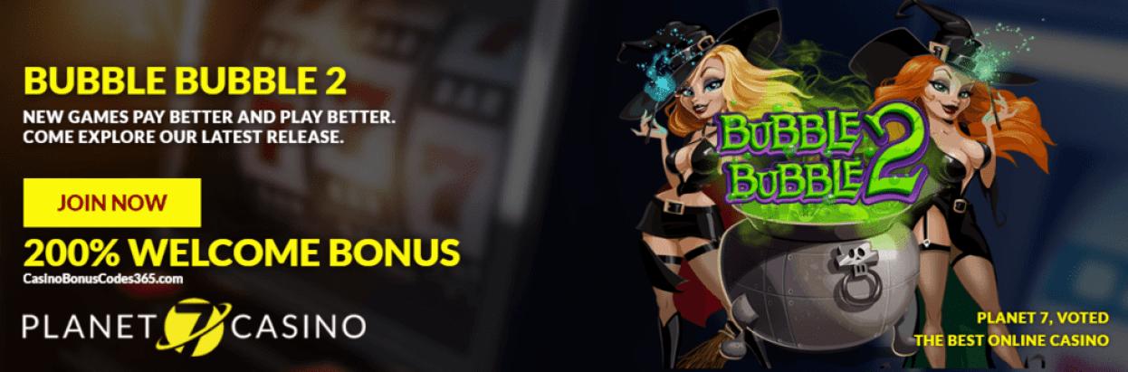 Planet 7 Casino RTG New Game Bubble Bubble 2