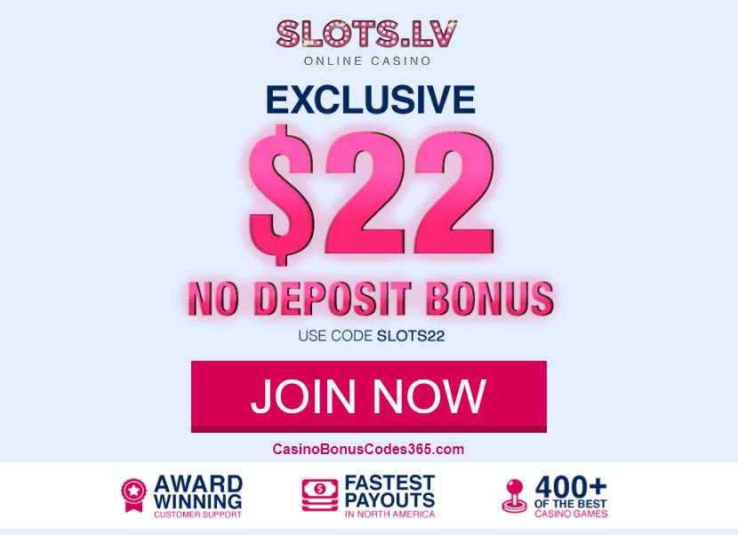 Slots LV $22 No Deposit FREE Chips