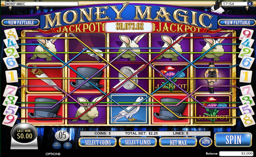 Vegas Crest Casino Rival Gaming Magic Money Progressive Jackpot Big WIN