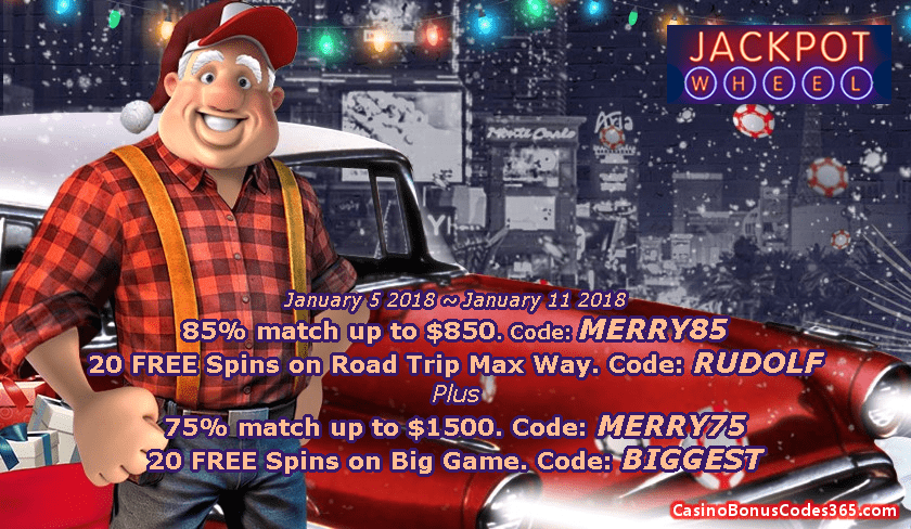 Jackpot Wheel New Year Offer Casino Bonus Codes 365