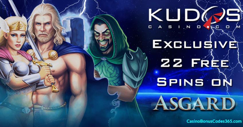 Kudos Casino New RTG Game Asgard 22 No Deposit FREE Spins