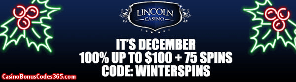 Lincoln Casino 100% up to $100 plus 75 Spinson WGS Triple 10x Wild