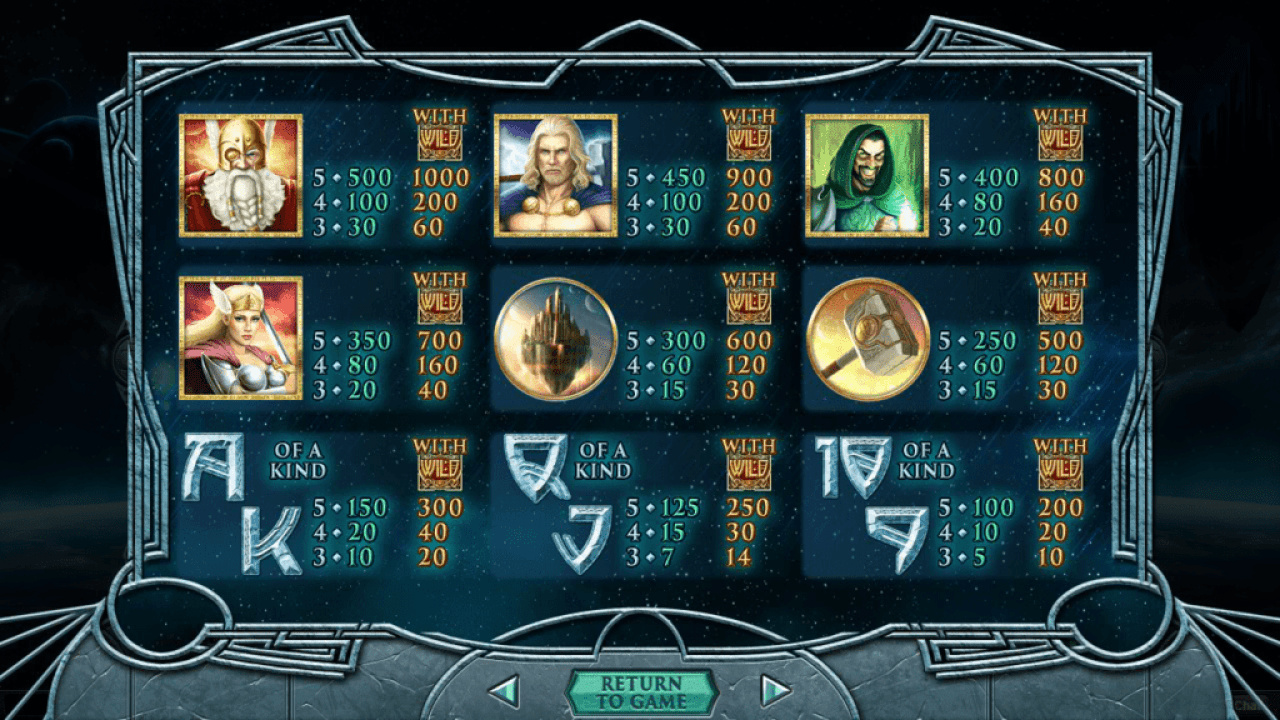 Grande Vegas Casino RTG New Game Asgard