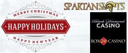 Spartan Slots Box 24 Casino Black Diamond Casino Happy Holidays Merry Christmas Happy New Year