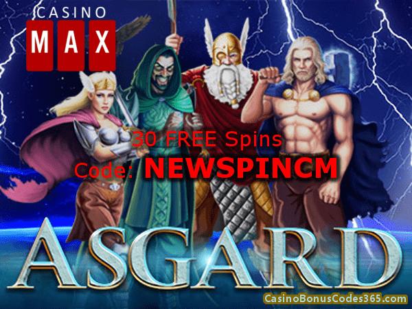 Casino Max 30 FREE Spins RTG Asgard