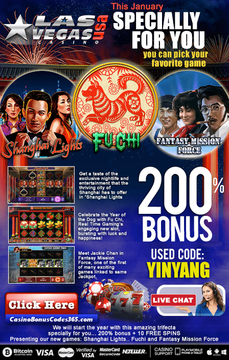 Las Vegas USA Casino 2 New RTG Games Shanghai Lights Fu Chi Fantasy Mission Force