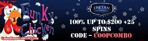 Lincoln Casino 100% up to $200 plus25 FREE Spins