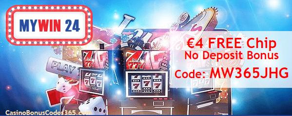 MyWin24 €4 No Deposit FREE Chip