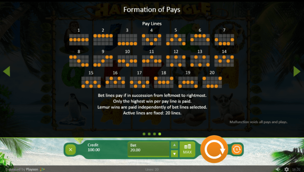 SlotoHit Playson Happy Jungle 15 No Deposit FREE Spins