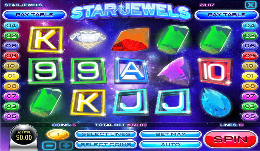 Vegas2Web Casino Rival Gaming Star Jewels