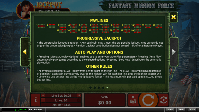 Jackpot Capital RTG Fantasy Mission Force