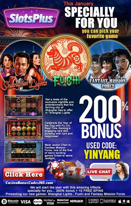 Slotplus Casino 2 New RTG Games Shanghai Lights Fu Chi Fantasy Mission Force