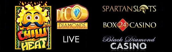 Spartan Slots Box 24 Casino Black Diamond Casino Pragmatic Play Chilli Heat Microgaming Deco Diamonds