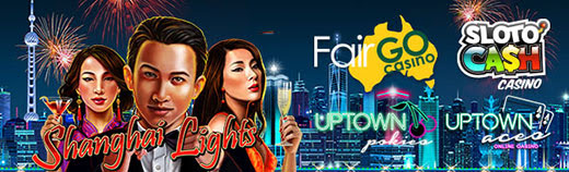 Fair Go Casino SlotoCash Casino Uptown Aces Uptown Pokies RTG Shanghai Lights LIVE