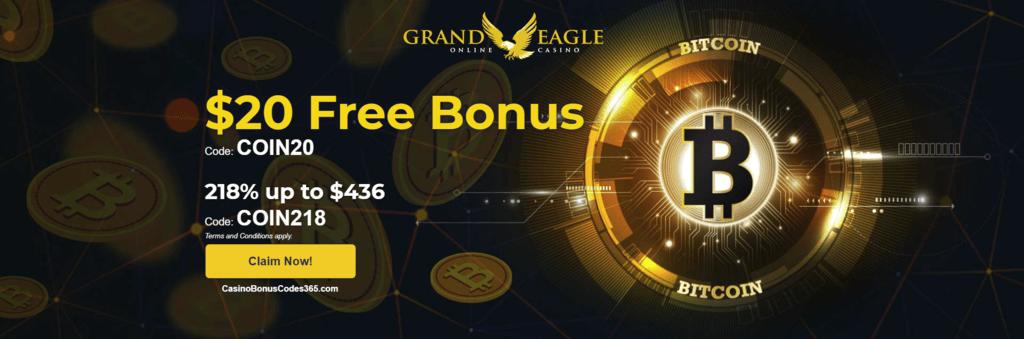 grand eagle casino bonus code
