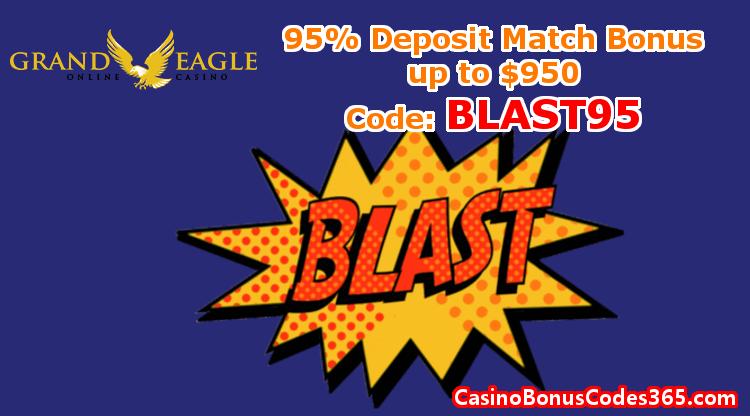 Grand Eagle Casino Exclusive Bonus 95% up to $950