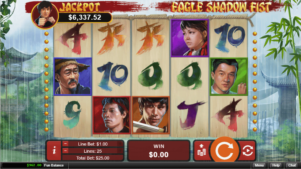 Uptown Pokies RTG Eagle Shadow Fist