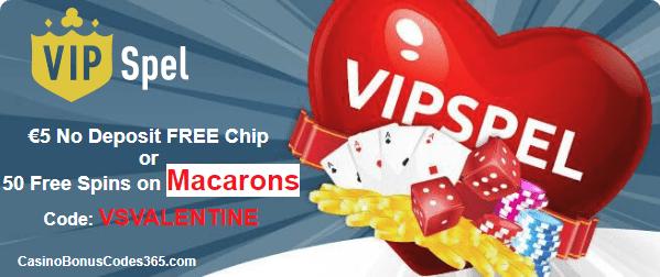 VIP Spel Happy Valentine's Week 50 Free Spins on Fruitfull Siesta or 5 EUR no Deposit with code