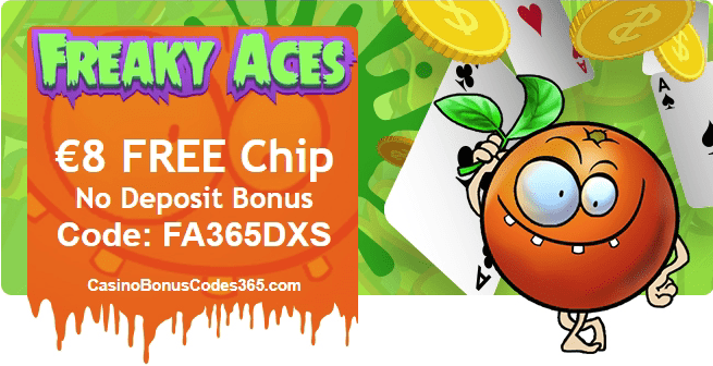 Freaky Aces €8 FREE Chip March Exclusive Deal
