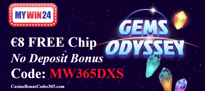 MyWin24 Casino €8 FREE Chip March Offer