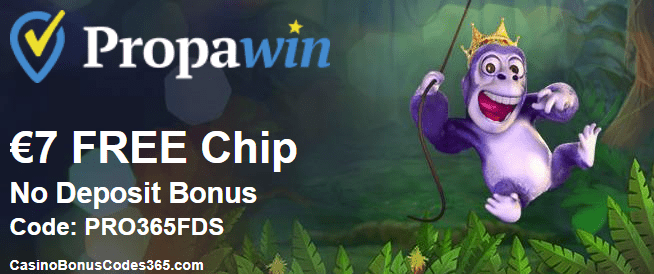 PropaWin Casino €7 FREE Chip March Promo