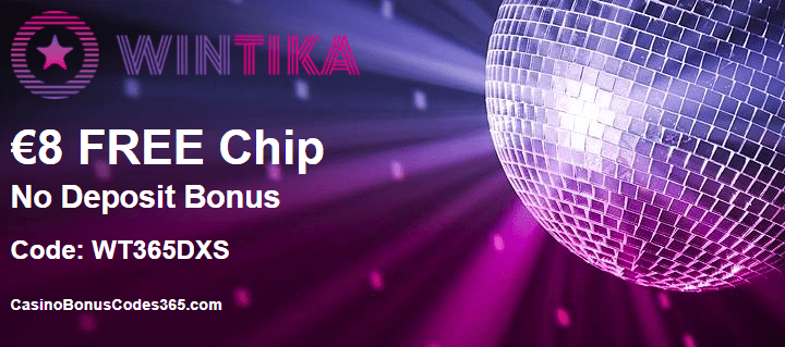 Wintika Casino €8 FREE Chip No Deposit Bonus