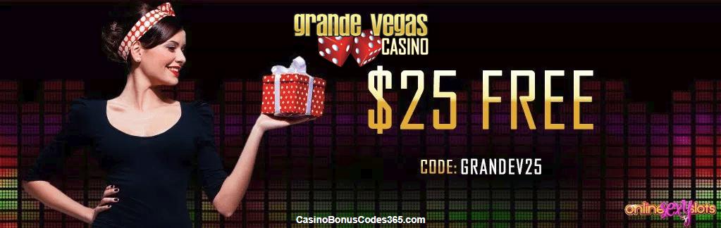 Grande Vegas Casino $25 FREE Chip