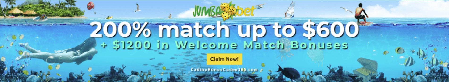 Jumba Bet $1800 Welcome Package