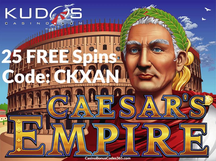 Kudos Casino 25 FREE Spins RTG Caesars Empire