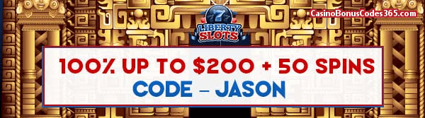 Liberty Slots 100% up to $200 plus 50 Spins WGS City of Gold April Promo