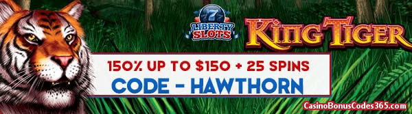 Liberty Slots 150% up to $150 plus 50 Spins