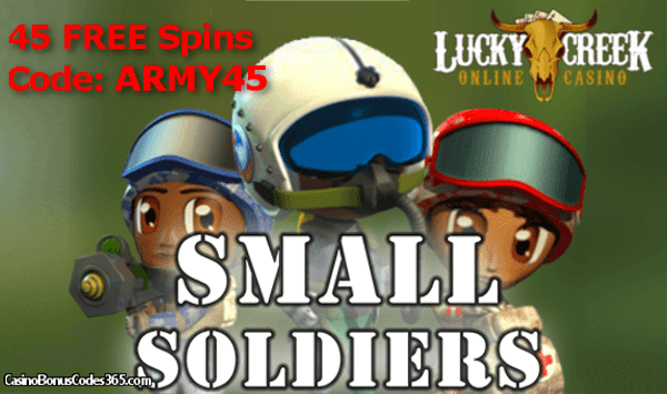Lucky Creek Casino Saucify Small Soldiers 45 FREE Spins