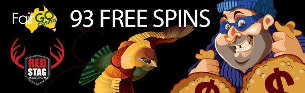 Fair Go Casino Red Stag Casino 93 FREE Spins