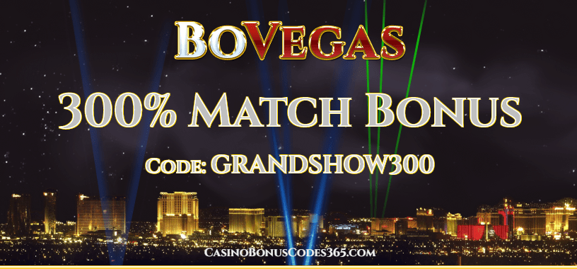 BoVegas Casino 300% Match Welcome Bonus