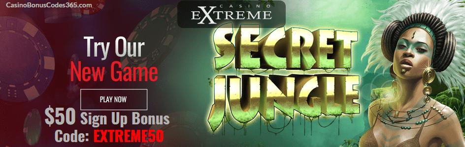 Casino Extreme New RTG Game Secret Jungle $50 FREE Chip Sign up bonus