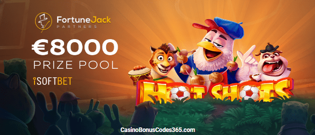 FortuneJack Online Casino Hot Shots Russia 2018 Tournament
