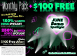 Uptown Aces Monthly Pack plus $100 FREE Chip