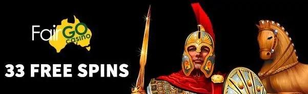 Fair Go Casino RTG Achilles 33 FREE Spins