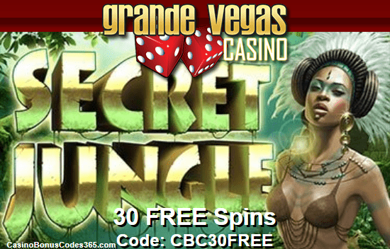 Grande Vegas Casino RTG Secret Jungle Exclusive 30 FREE Spins