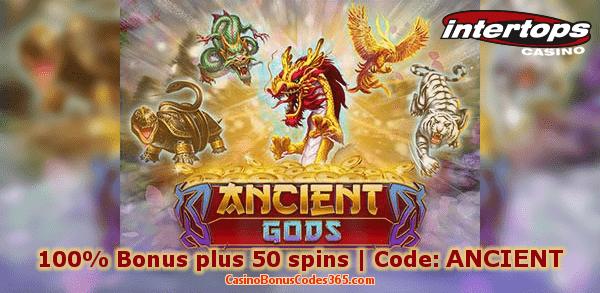 Intertops Casino Red New Game RTG Ancient Gods