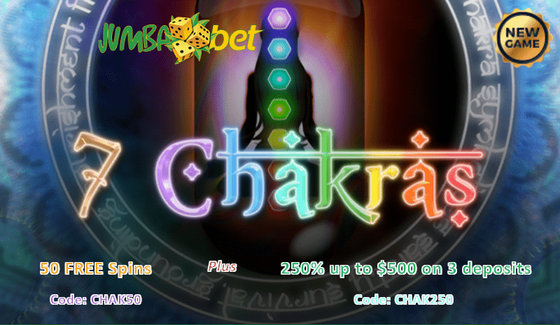 Jumba Bet 7 Chakras 50 Free Spins Plus 250 Match Bonus Casino