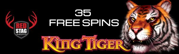 Red Stag Casino 35 FREE Spins WGS King Tiger