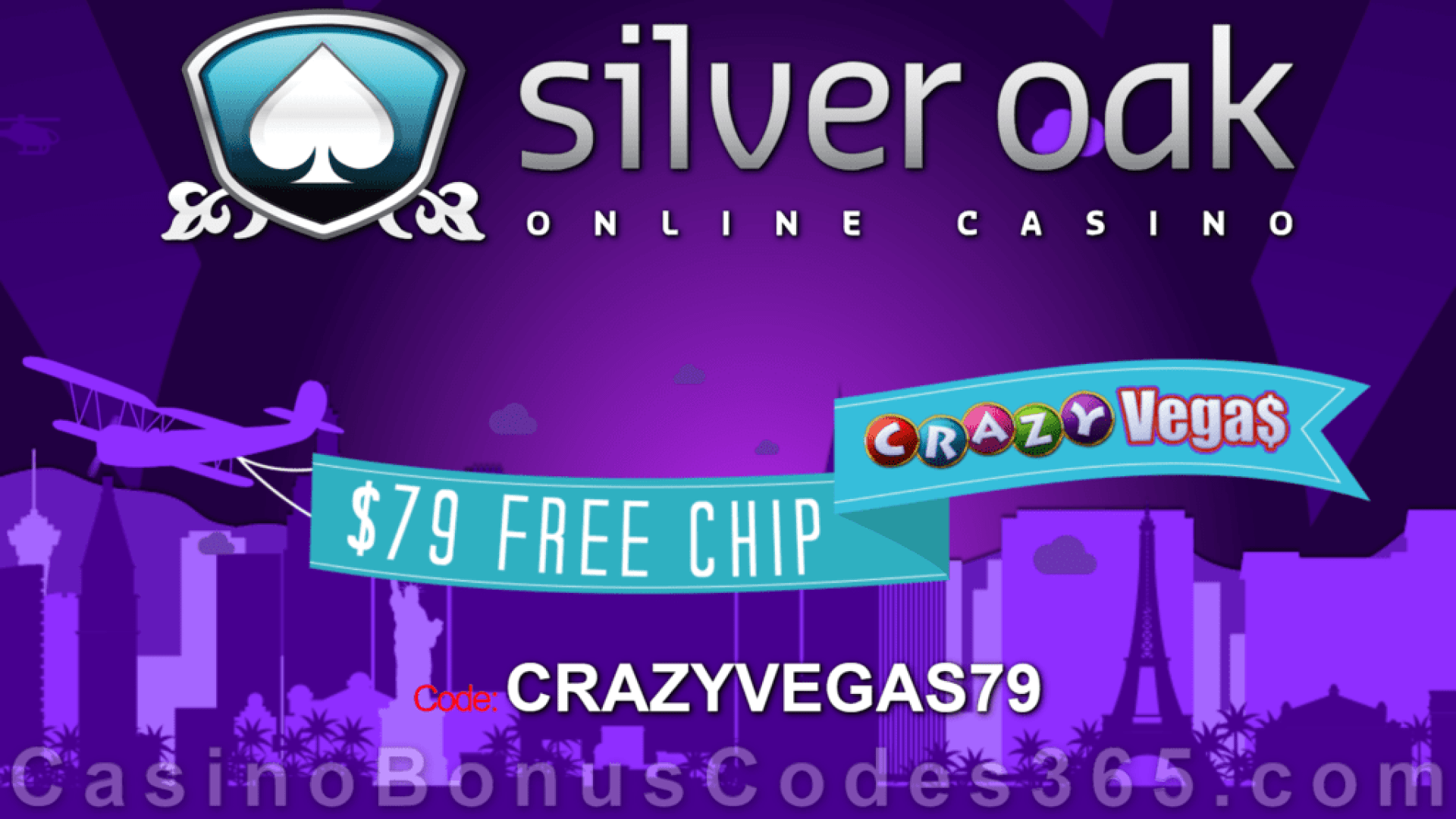 Silver Oak Casino $79 FREE Chips No Deposit Special Deal