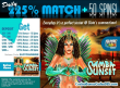 SlotoCash Casino 225% Daily Match plus 50 FREE Spins RTG Samba Sunset
