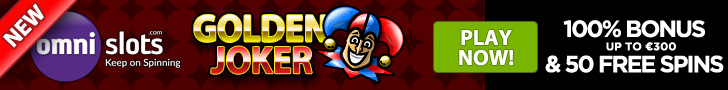 Omnislots New Game Golden Joker 100% Welcome Bonus plus 70 FREE Spins