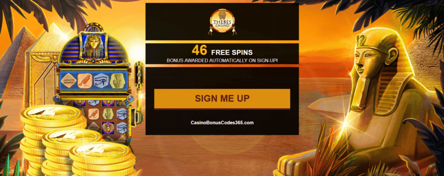 Thebes Casino Exclusive 46 No Deposit FREE Spins